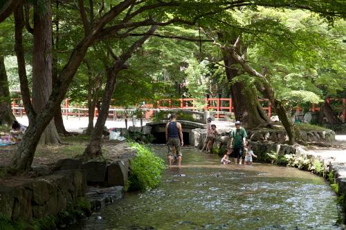 上賀茂神社 - 境内の小川