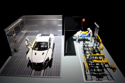 LEXUS LFAの工場風景の模型