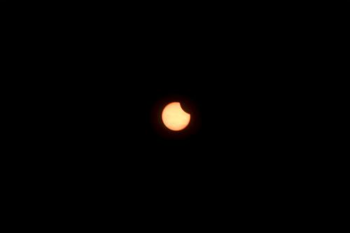 日食欠け始め