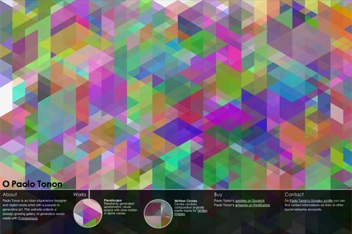 Panelscape - Paolo Tonon - generative pieces