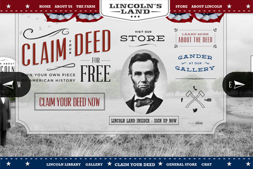 Lincoln's Land Your Piece of American History Buy Abraham Lincoln Land Deeds, Lincoln Collectibles and Memorabilia