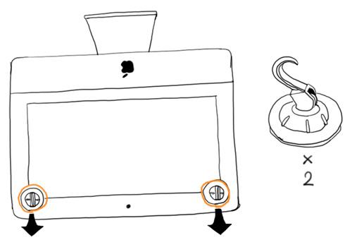 iMacのガラス面取り外し