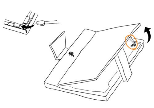 iMacのモニタ部分取り外し