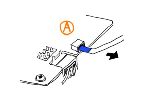 青ケーブル引き抜き図解
