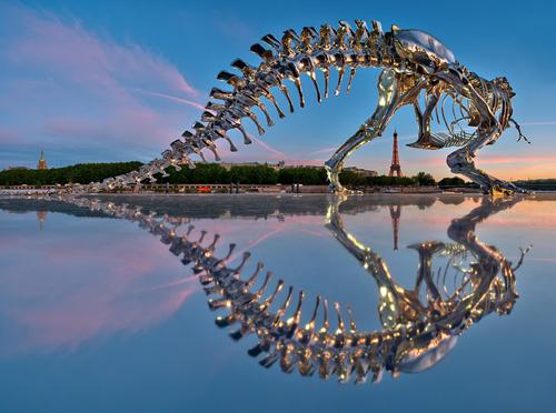 philippe pasqua  full-scale t-rex in paris