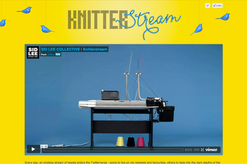 KNITTERSTREAM! making tweets look good since 2012