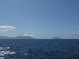 快晴の八丈島