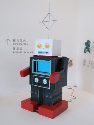 ロボットと美術展 案内ロボ