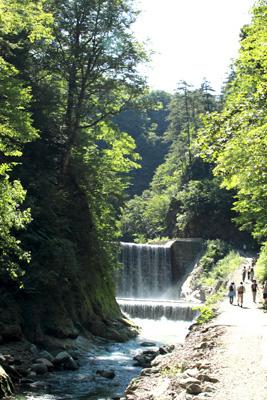 暗門の滝への道序盤