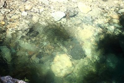 暗門の滝の下流