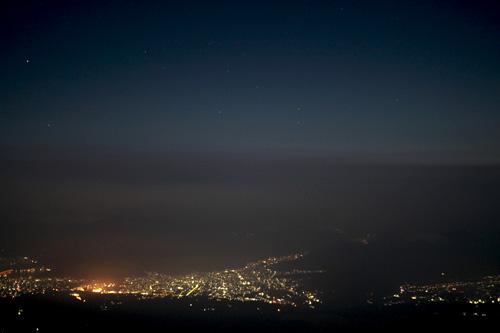 富士山 本八合目からの夜景