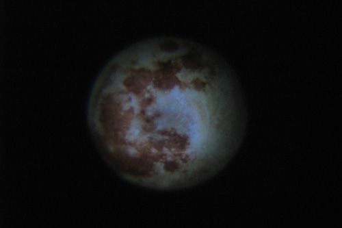プロジェクタードームで投影した月