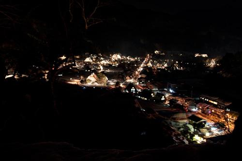 白川郷夜の全景