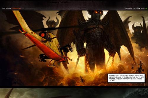 Soul Reaper - HTML5 Scroll Book